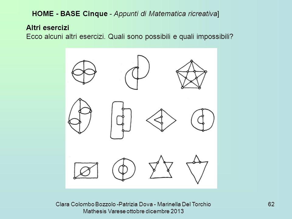HOME - BASE Cinque - Appunti di Matematica ricreativa]